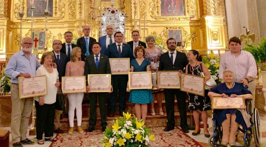 La Agrupación de Cofradías clausuró la efemérides del 75 aniversario fundacional